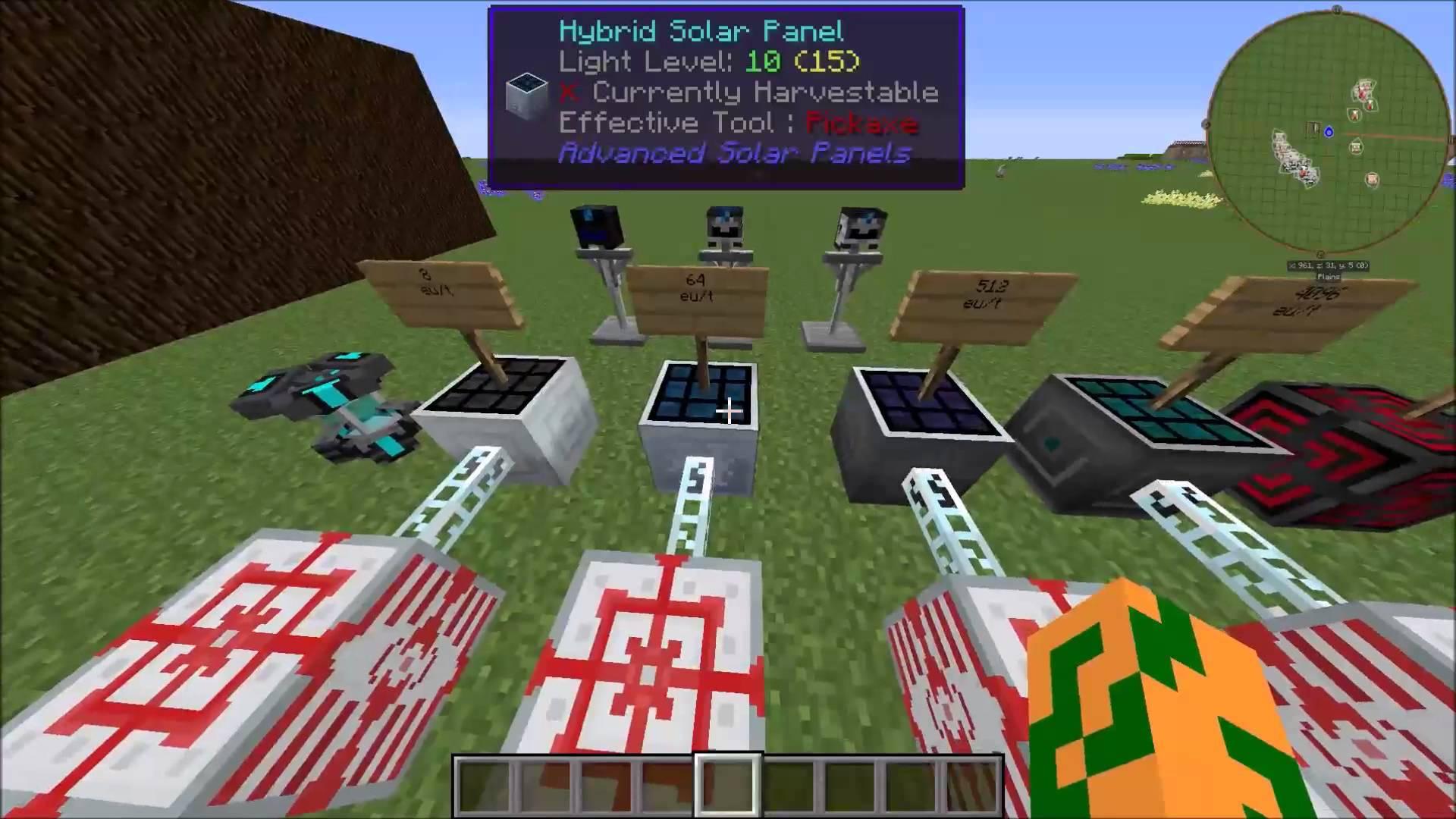 мод на майнкрафт 1.7.10 на солнечные панели #8